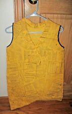 Vtg Paper Dress Yellow Pages Phone Book Advertising POP Art Mod RARE