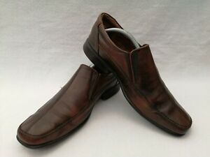 Men's NEXT leather slip-ons UK size 12 brown leather uppers square toe rubber so