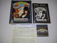 Pinball Jam Atari Lynx Game Complete in Box CIB 1992 *Used*