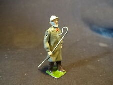 Old Vtg Collectible Lead Old Man Holding Staff Train Garden Toy