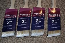 "NEW! 2"" Angle Sash Painter's Collection Brush - for all paints - Lot of 4"