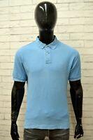 Polo Uomo FILA Taglia Size 50 Maglia Camicia Shirt Manica Corta Blu Casual