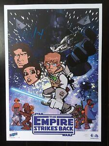JAKe Star Wars Signed Rare Empire Strikes Back Aniversary  Print Celebration V