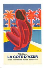 VISIT THE IVORY COAST french VINTAGE ad poster MODERN design EXQUISITE 24X36
