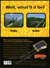 3Dfx_VOODOO or DOODOO__Original 1998 Print AD promo__TechWorks Power 3D Graphics