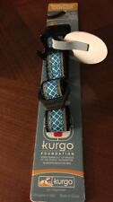 Kurgo Reflective Protect Night/Day Dog Collar Blue W/ Bottle Opener Small