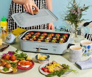 BRUNO Compact Hot Plate Kippis Tippa Dot 2 Plates, Flat Plate,Takoyaki Plate