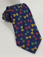 Turnbull & Asser Shirtmakers England Blue Silk Tie with Bowties - 3.75 x 58