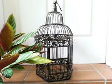 Iron Handmade Ornamental Bird Cage Wedding Wishing Well Small Size BRASS HYL016S