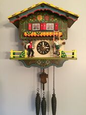 Vintage Farmers Daughter Cuckoo Clock, Animated With Music