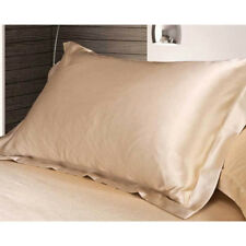 Silk Satin Cover Standard Queen Soft Comfort Solid Protector Summer Pillow Case Camel