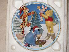 Disney Friends Make Christmas Sparkle Plate Winderlit Winter Winnie The Pooh