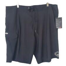 New listing NWT Quicksilver Mens 40 Black Recycled 4-Way Stretch Diamond Dobby Board Shorts