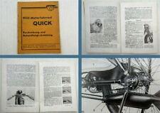 NSU Motorfahrrad Quick Bedienungsanleitung Beschreibung Betriebsanleitung