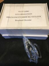 New In Box Brushedchrome French Door Handle And Lock Set