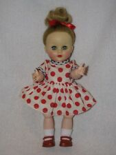 "10"" Vintage Hard Plastic Bent Knee Vinyl Head Doll #2"