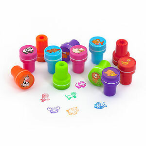Stempelset Tiere 12 Stück - Kinder Stempel - Selbstfärbend - kreativer Spielspaß