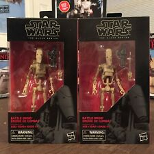 Hasbro Star Wars Lot 2 Battle Droid Black Series 6 Inch Action Figure