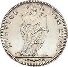 O3364 RARE Jeton Louis XVI Eglises Buste St Louis Justice Sceptre Argent SPL !