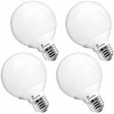 Greenlite G25 Globe LED Bulb 5W=40W Bright White 450lm Damp Rated E26 4-Pack
