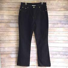 Womens Diane Gilman Jeans DG2 Curvy Sz 14 [Inseam 31]Dark Denim Zipper Button c