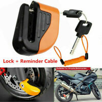 Anti-theft Motorbike Disc Lock Alarm 2 Keys Security + Free Reminder Cable 1.5M