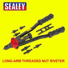 Sealey Long Arm Threaded Nut/Rivnut Riveter/Riveting Insert Kit M3-M12 AK3985