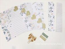 Filofax A5 Planner Organiser 6 Tab Dividers Plus Extras  - Teal & Cream Rose