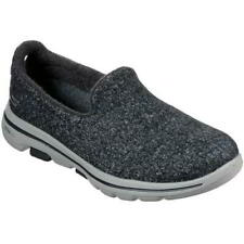 Skechers Go Walk 5 Washable Womens Ladies Grey Slip On Shoes Trainers Size 2-8