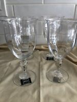 """MIKASA """"English Countryside"""" Water Goblet(s). Set of 4 MINT Condition New"""
