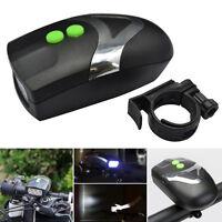 3 LED Bike Bicycle Headlamp Headlight Front Light w/ Electric Horn Bell Speaker