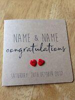 Handmade Personalised Wedding Day card (congratulations)