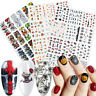36Pcs Water Transfer Decals Manicure Decor Halloween Design Nail Art Stickers