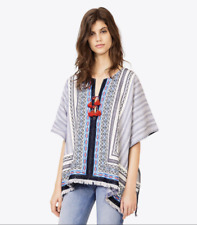 Tory Burch Blaire Poncho Tunic M / L NWT 6 8 10 Embroidered Cotton orig $395