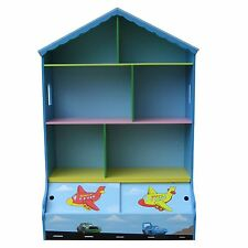 BOYS PLAY HOUSE BOOKCASE & STORAGE KIDS BOOKCASE BOYS BOOKSHELF DOLLHOUSE