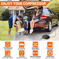 Digital Portable Air Tire Inflator Flashlight Tyre Inflator for Cars Tires Wheel