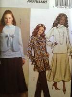 Butterick Sewing Pattern 4941 Ladies Misses Vest Blouse Tunic Skirt Size 18W-24W
