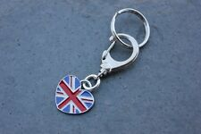 British Flag Key Chain - heart shaped UK flag charm- also use as bag purse charm