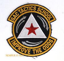 SAC TACTICS SCHOOL STRATEGIC AIR COMMAND PATCH US AIR FORCE AFB PIN B52 B2 B1 E4
