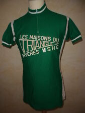 Collector maillot cylcisme vintage VSHC Hyères 70' S AED cycling jersey Taille L