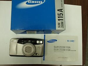 NEW Samsung Slim Zoom 115A FILM Camera 38-115mm ZOOM LENS with DATA BACK