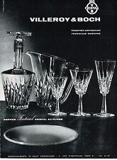 PUBLICITE ADVERTISING  1964    VILLEROY  & BOCH  cristal service FESTIVAL