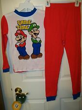 Super Mario Game Time Red Long  2 Piece Pajama PJ Set Boys Size 6 NWT