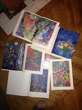 Marc Chagall 1971 Revue Peinture gouache dessins Lavis Galerie Maeght Zurich