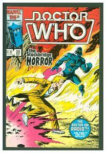 Doctor Who #20 VF/NM Marvel Comics 1986 Stockbridge Horror