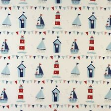 "Curtains made to order 48"" W X 72"" D Fryetts Maritime 100% Cotton"
