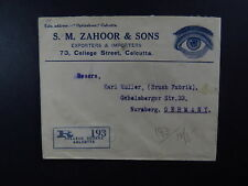 R Cover Calcutta India College Square S.M. Zahoor & Sons to Germany Nürnberg
