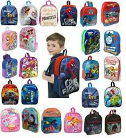Kids Boys Girls Disney Character Backpack School Lunch Bag Rucksack Children