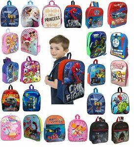 Kids Boys Girls Disney Character Backpack School Lunch Bag Rucksack Children