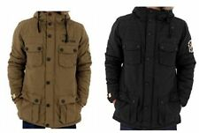 Button Hooded Polyester Parkas for Men